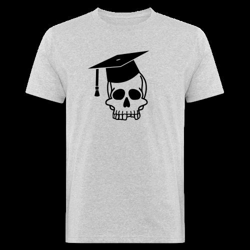 Schädel mit Doktorhut - Geschenk Examen, Prüfung - Männer Bio-T-Shirt