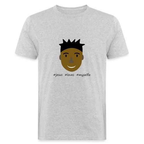 jesus loves myselfie - Männer Bio-T-Shirt