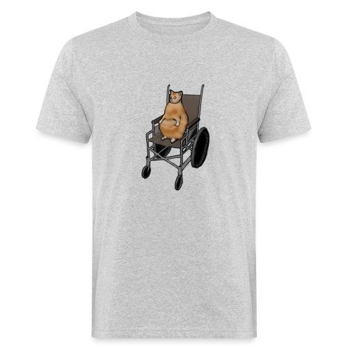 Wheelchair Cat - Ekologisk T-shirt herr
