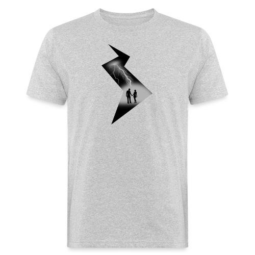 t shirt coup de foudre noir et blanc amour love - T-shirt bio Homme