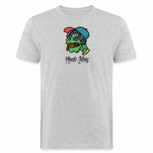 Monsta T-Shirt With Text - Men's Organic T-Shirt