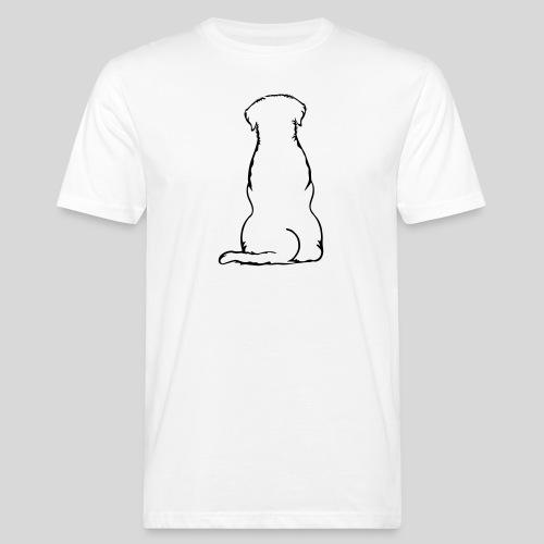 Labbi_sitzend_Back - Männer Bio-T-Shirt