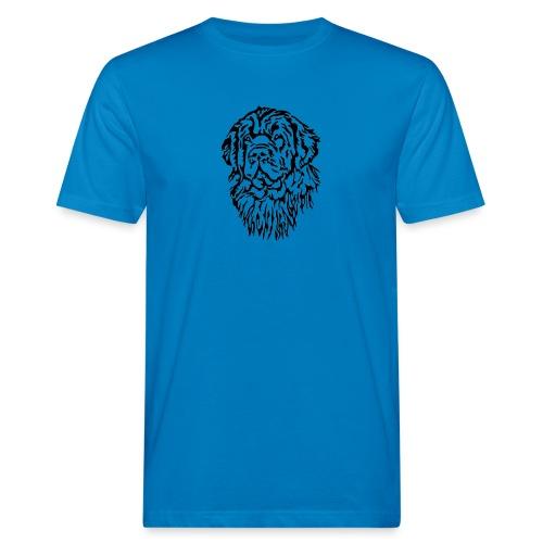 Neufundländer Kopf - Männer Bio-T-Shirt