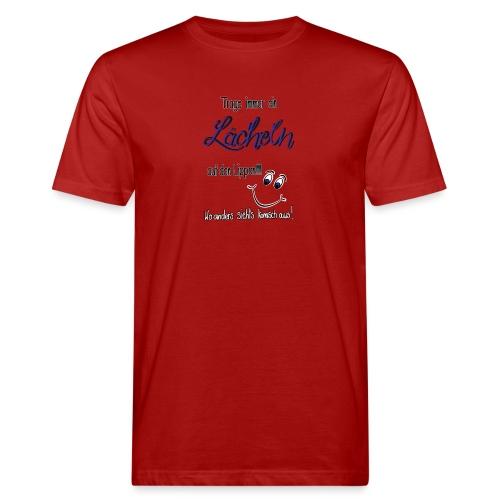 Lächeln - Männer Bio-T-Shirt