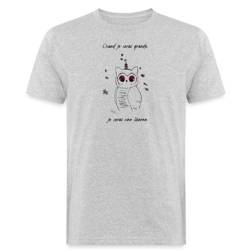 licorneB_fille - T-shirt bio Homme