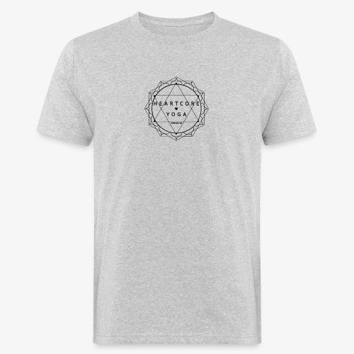 Heartcore Yoga - Mannen Bio-T-shirt