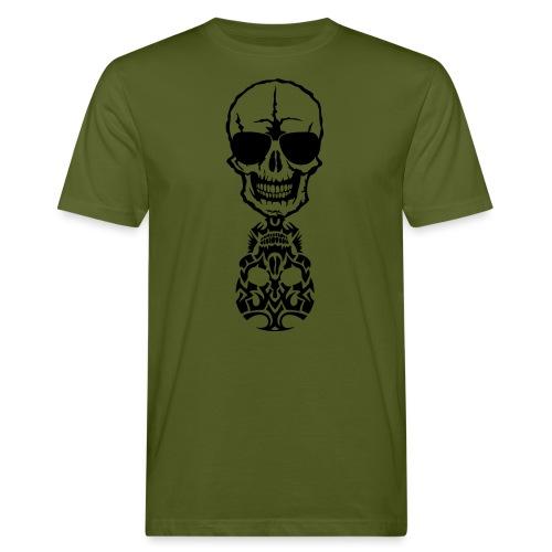 tete mort skull tribal reflet dead death - T-shirt bio Homme
