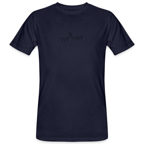 mountain heartbeat - T-shirt ecologica da uomo