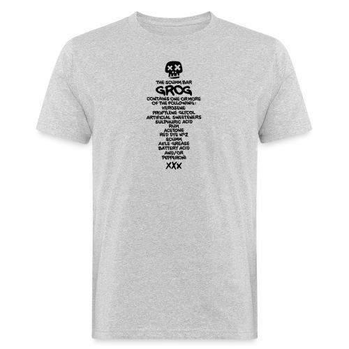 ingredientes grog ingles - Camiseta ecológica hombre