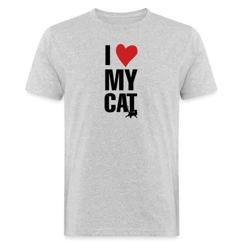 I_LOVE_MY_CAT-png - Camiseta ecológica hombre