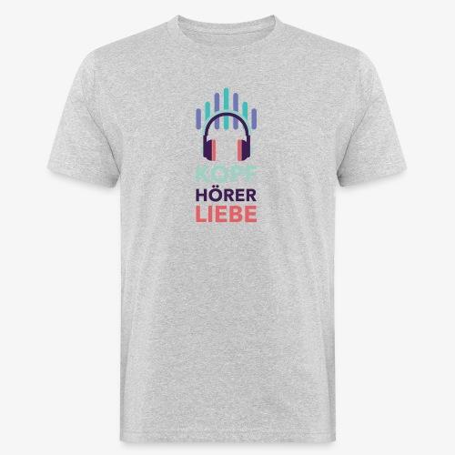 kopfhoererliebe bunt - Männer Bio-T-Shirt