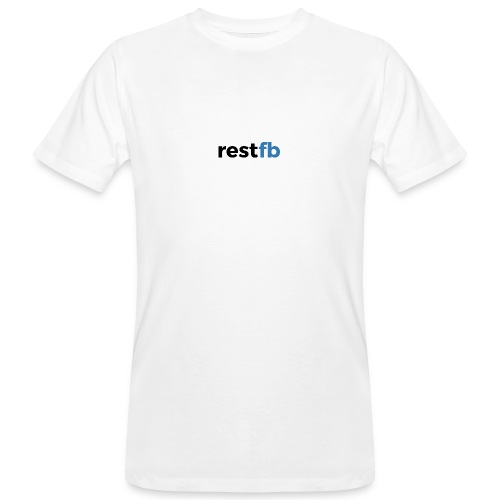 RestFB logo black - Men's Organic T-Shirt