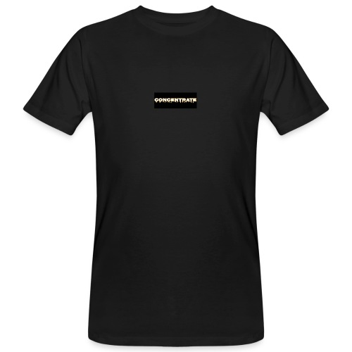 Concentrate on black - Men's Organic T-Shirt