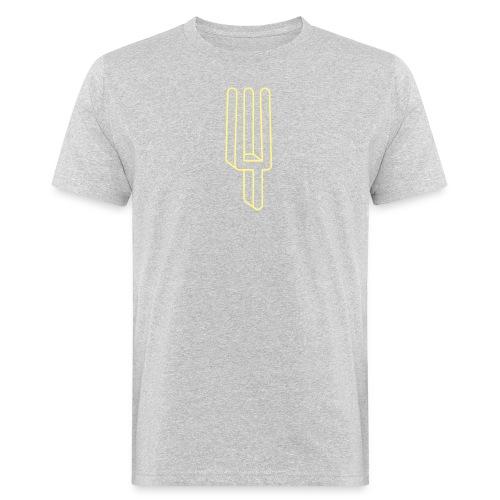 De Harmonies logo geel - Mannen Bio-T-shirt