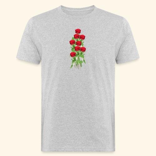 rote rosen - Männer Bio-T-Shirt