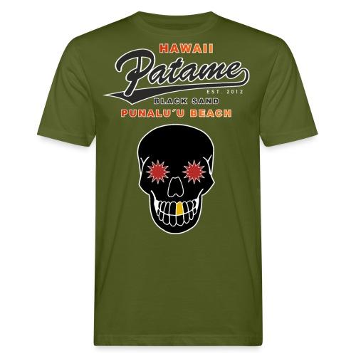 Patame Black Sand Beach with Skull - Männer Bio-T-Shirt