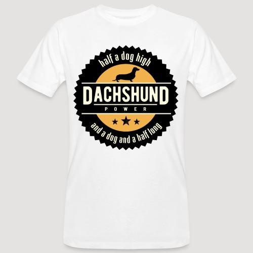 Dachshund Power - Mannen Bio-T-shirt