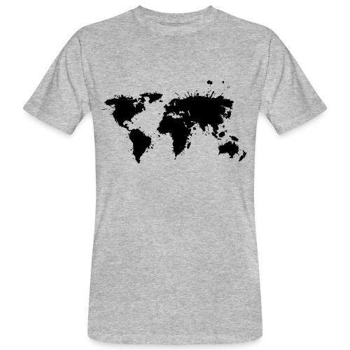 Weltkarte Splash - Männer Bio-T-Shirt