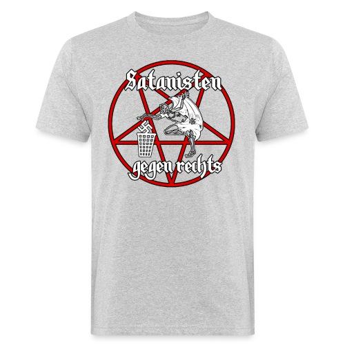 satanistengegenrechtsBIG png - Männer Bio-T-Shirt