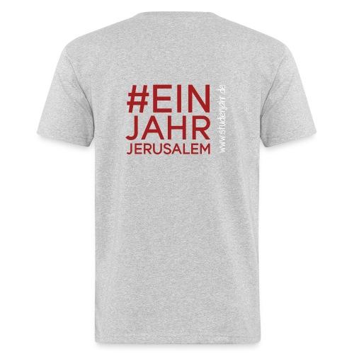 Studienjahrslinie vorne und Hashtag (weiß) hinten - Männer Bio-T-Shirt