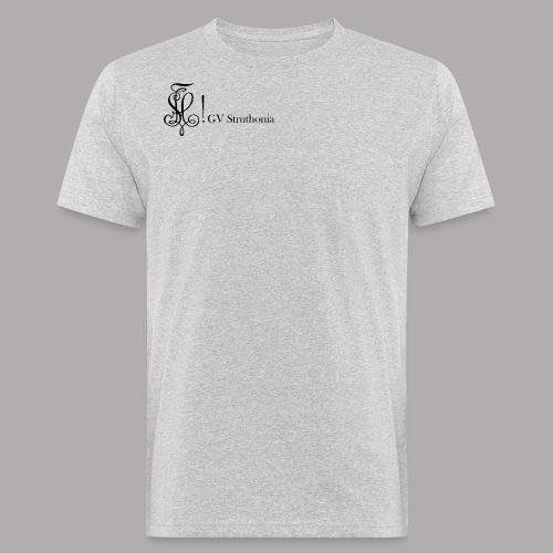 Zirkel mit Name, schwarz (vorne) - Männer Bio-T-Shirt