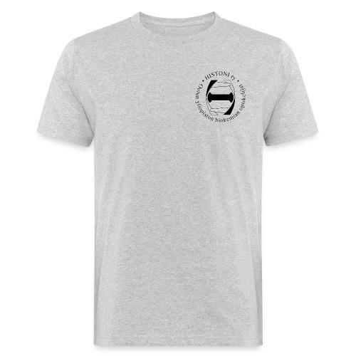 Histoni logo musta stroke - Miesten luonnonmukainen t-paita