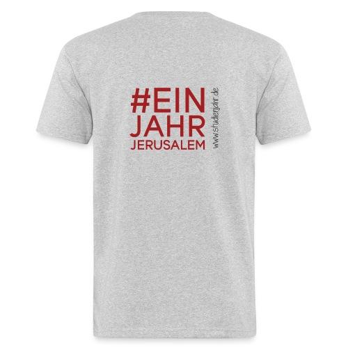 Studienjahrslinie vorne & Hashtag (schwarz) hinten - Männer Bio-T-Shirt