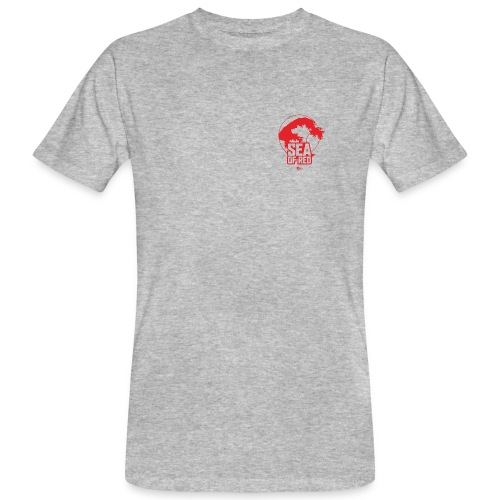 Sea of red logo - small red - Men's Organic T-Shirt