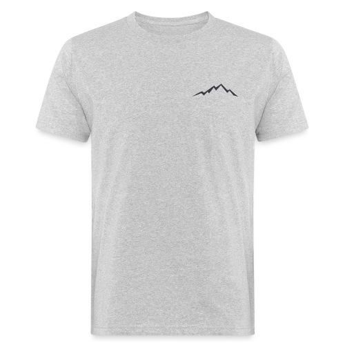 swiss alps clipart sihllouette ski mountains - Mannen Bio-T-shirt