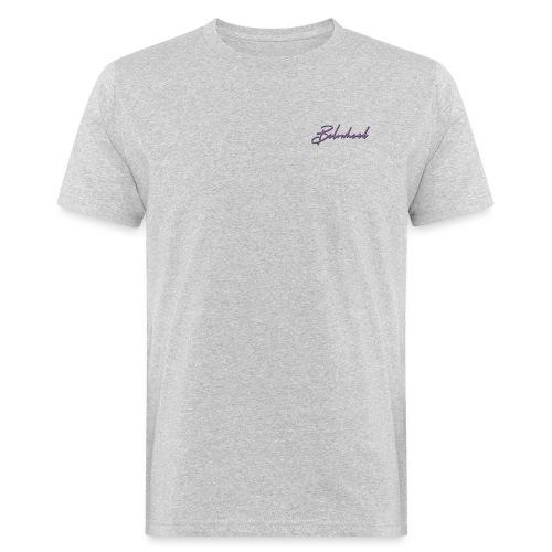 pattern violet front - Männer Bio-T-Shirt
