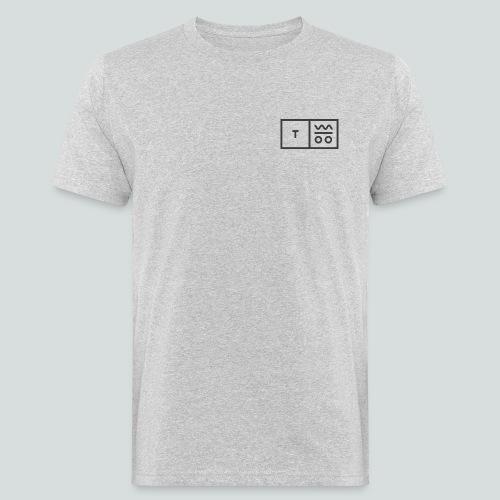 Logo dunkel 2x - Männer Bio-T-Shirt