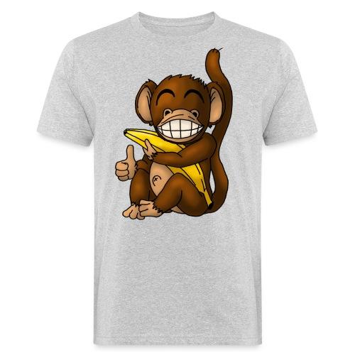 Super Fröhlicher Affe - Männer Bio-T-Shirt