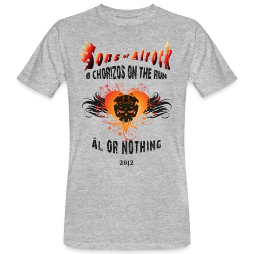 so 2012 v poster clean flamed spades - Men's Organic T-Shirt
