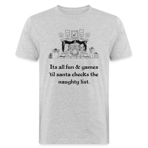 Weihnachten Christmas Ugly Kinder Bild Lustig - Männer Bio-T-Shirt