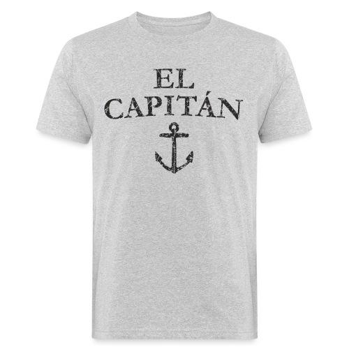 El Capitan Anker (Vintage Schwarz) Kapitän Käpt'n - Männer Bio-T-Shirt