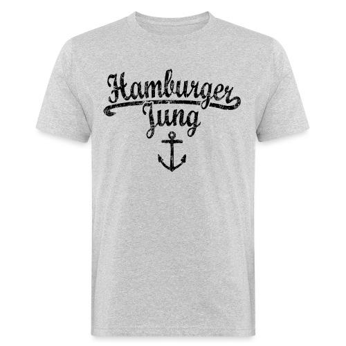 Hamburger Jung Klassik (Vintage Schwarz) Hamburg - Männer Bio-T-Shirt