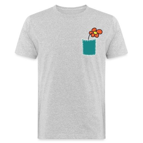 Brusttasche Blume - Männer Bio-T-Shirt
