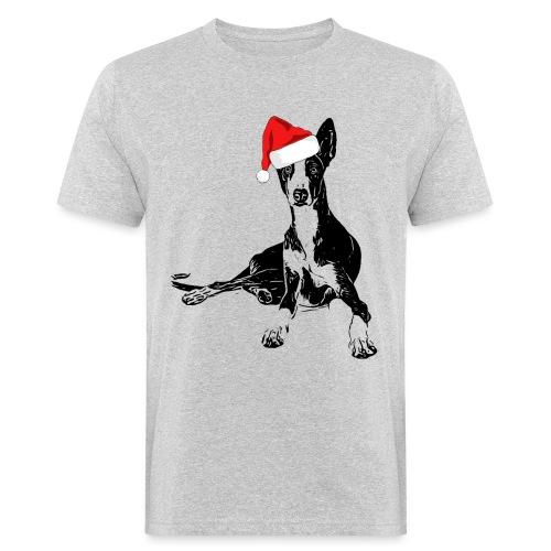 Weihnachten Podenco Hunde Geschenkidee - Männer Bio-T-Shirt