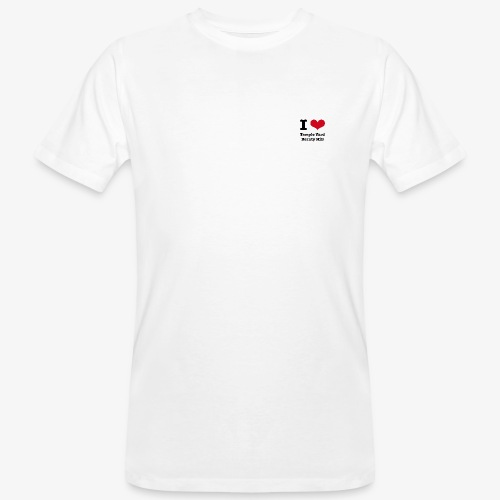 I love Temple Yard Beauty Hill - Männer Bio-T-Shirt