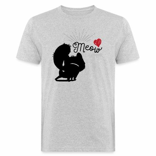 gatto meow - T-shirt ecologica da uomo