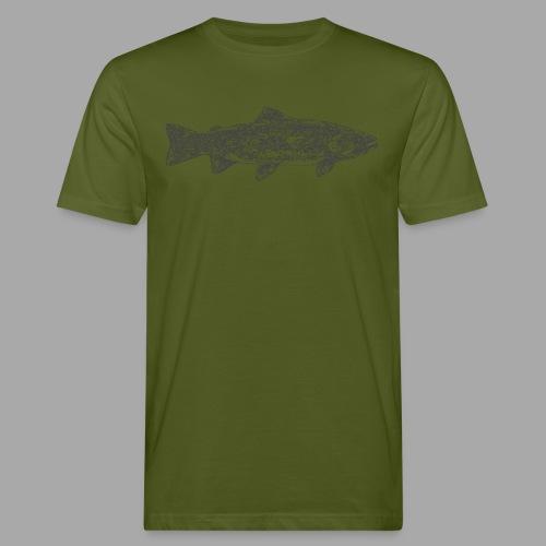art trout.png - Miesten luonnonmukainen t-paita