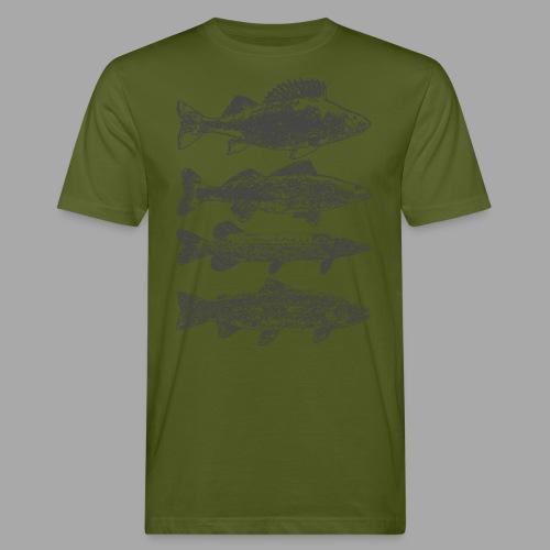 in the deep lake - Miesten luonnonmukainen t-paita