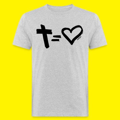 Cross = Heart BLACK - Men's Organic T-Shirt