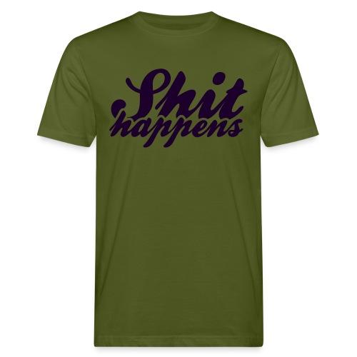 Shit Happens and Politics - Men's Organic T-Shirt