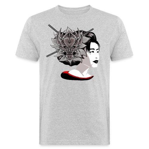 Warrior Flower - Mannen Bio-T-shirt