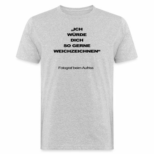 fotograf beim aufriss - Männer Bio-T-Shirt