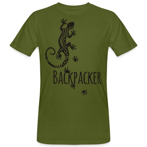 Backpacker - Running Ethno Gecko 1 - Männer Bio-T-Shirt