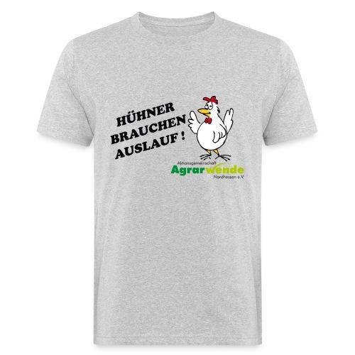 AGA - Huehner brauchen Auslauf - Männer Bio-T-Shirt