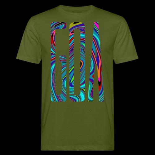 Goa Batik Style Shirt Design - Männer Bio-T-Shirt