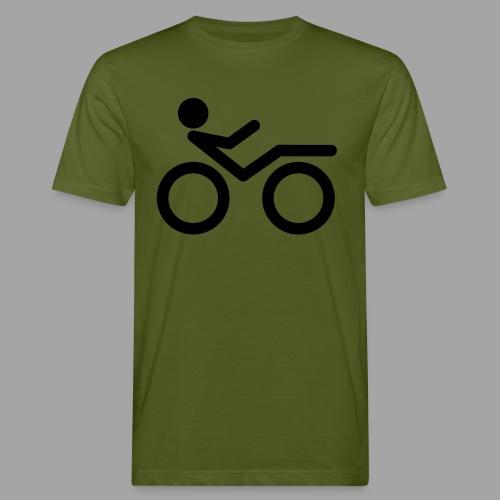 Recumbent bike black 2 - Miesten luonnonmukainen t-paita